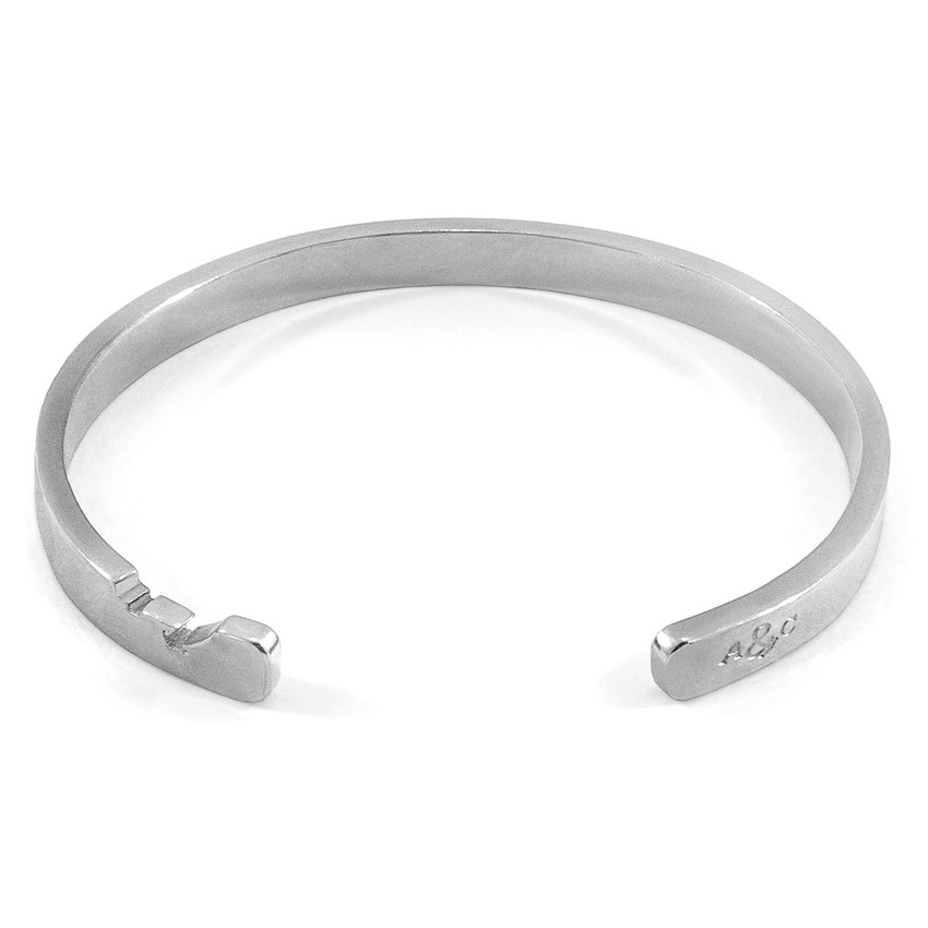 Anchor & Crew Axton Anchor Cutout Wayfarer Silver Bangle