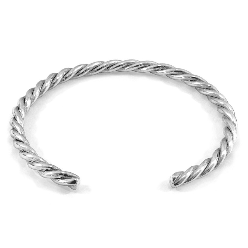Anchor & Crew Gammell Full Rope Wayfarer Silver Bangle