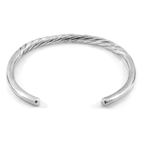 Anchor & Crew Haden Half Rope Wayfarer Silver Bangle