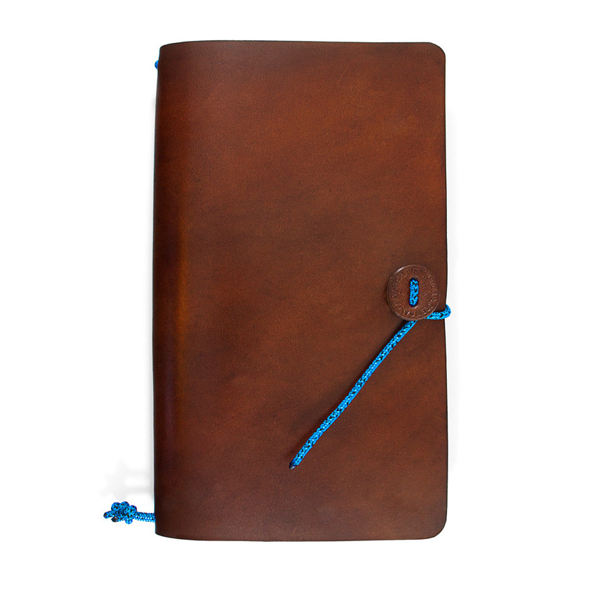 Anchor & Crew Brown Medium Travellers Leather and Blue Noir Rope Journal