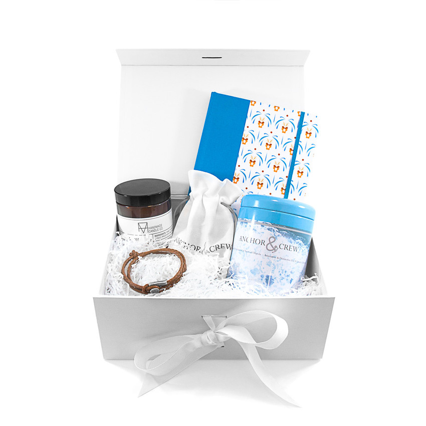 Anchor & Crew Bundle Gift Set Two w/ Dundee Bracelet - Light Brown / Palermo