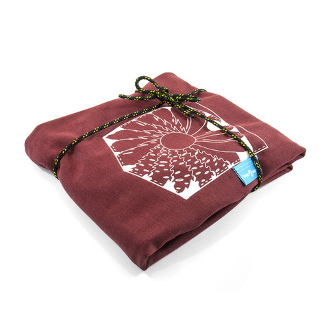 Fire Brick Red Explorer Print Organic Cotton T-Shirt (Mens)