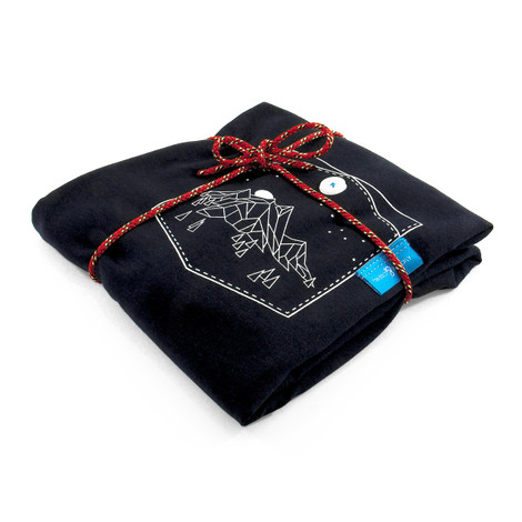 Anchor & Crew Oxford Blue Horizon Print Organic Cotton T-Shirt As Wrapped