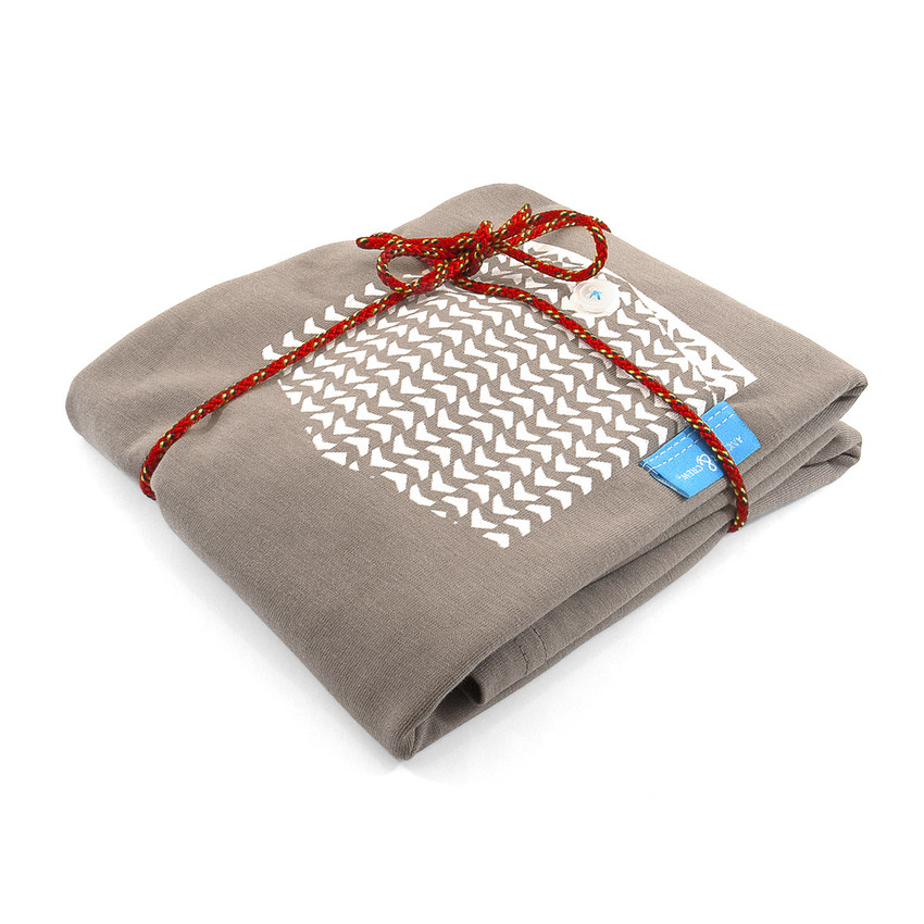 Anchor & Crew Tan Brown Marker Print Organic Cotton T-Shirt As Wrapped