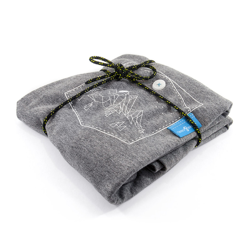 Anchor & Crew Athletic Grey Horizon Print Organic Cotton T-Shirt As Wrapped