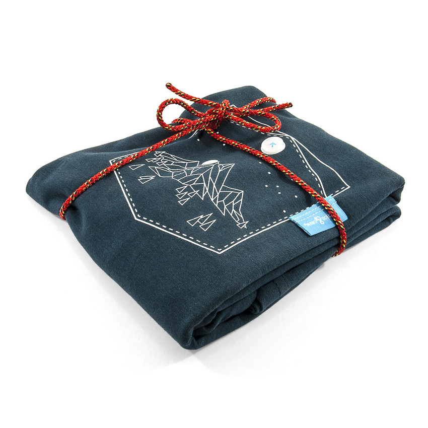 Anchor & Crew Steel Blue Horizon Print Organic Cotton T-Shirt As Wrapped