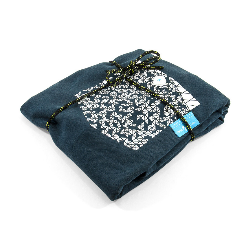 Anchor & Crew Steel Blue Digit Print Organic Cotton T-Shirt As Wrapped