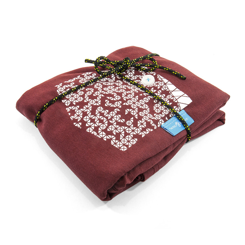 Anchor & Crew Fire Brick Red Digit Print Organic Cotton T-Shirt As Wrapped
