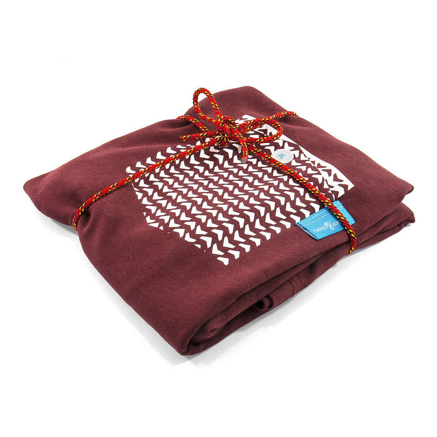 Anchor & Crew Fire Brick Red Marker Print Organic Cotton T-Shirt As Wrapped