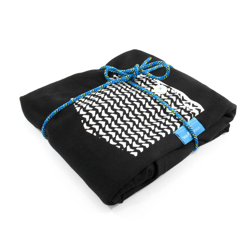 Anchor & Crew Noir Black Marker Print Organic Cotton T-Shirt As Wrapped