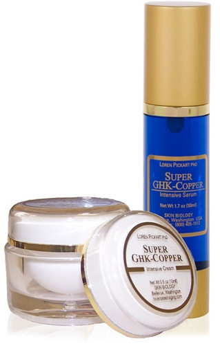 Super GHK Copper Peptide Serum or Cream