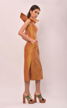 Helen Dress (Silk Taffeta Tube Dress)
