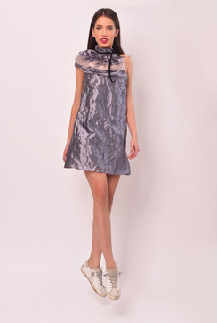 The Cheshire Cat Silk Organza Short Dress