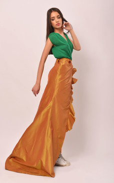 Alice Evening Skirt (Maxi Silk Wrap Skirt)