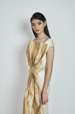 Moira Silk-Satin Wrap Gown