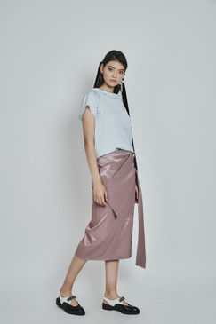 Darling Skirt (Pencil Midi Skirt with Front Bow)