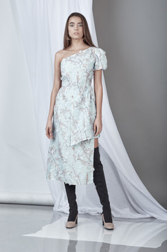 Sgnificance Dress (Light Blue Lace Midi Dress)