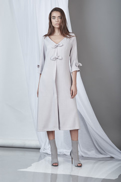 Endurance Dress (Light Grey Midi Dress)