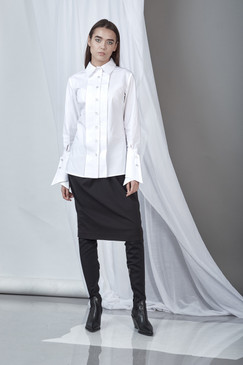 On-the-Edge Shirt (White Poplin Shirt)