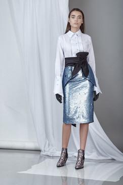 Daring Sequins Skirt