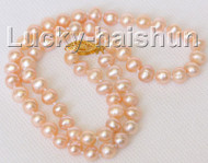 """16"""" 6-6.5mm near round pink freshwater pearls necklace j10313"""