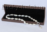 "NEW stylish Baroque 18"" 28mm white Reborn keshi pearls necklace j10305"