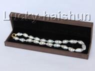 "Baroque Luster 18"" 28mm white Reborn keshi pearls necklace j10301"