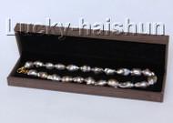 "Baroque Luster 18"" 28mm purple Reborn keshi pearls necklace j10299"