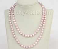 "33"" 9mm pink-purple near round freshwater pearls necklace j10185"