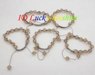 """adjustable 5 piece 7-10"""" 10mm crystal bangle bracelet j8677"""