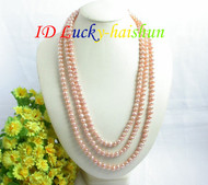 """length 78"""" 8mm pink freshwater pearls necklace j7354"""