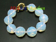 AAA 100% nature round moonstone gemstone bracelet j6983