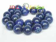 AAA 100% NATURE ROUND LAPIS LAZULI NECKLACE 20MM j6727