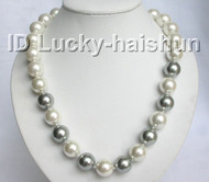 "AAA 20"" bigest 16mm south sea shell pearls necklace j5816"