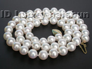 AAAA GENUINE AKOYA WHITE SEA WATER PEARL NECKLACE 14K GOLD j5070-1
