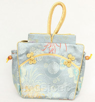 popular oriental style gray Chinese silk handbag bag purses T796A26