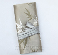 handmade silk gray colors Jewelry bags pouches roll T784A11