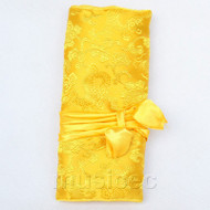 handmade silk yellow colors Jewelry bags pouches roll T783A11