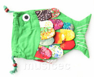 New Fashion green Chinese handmade FLAX fish bag purse T745A20E7