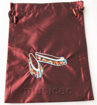 antiquity shoes pattern wine red embroidery silk shoes bag pouch T709A66E3
