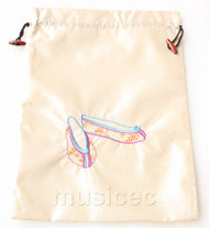 antiquity shoes pattern Cream white embroidery silk shoes bag pouch T707A66E3
