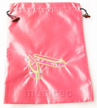 antiquity shoes pattern pink embroidery silk shoes bag pouch T705A66E3