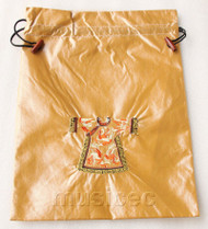 clothing pattern apricot embroidery silk shoes bag pouch T696A66E3