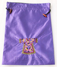 clothing pattern purple embroidery silk shoes bag pouch T690A66E3