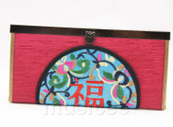 oriental style dark red handbag bags purses T642A18