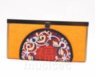 oriental style yellow  handbag bags purses T640A18