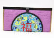 oriental style purple silk handbag bags purses T639A18