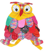 Brand-New 23X33cm yellow Chinese handmade FLAX OWL bag purse T611A28