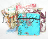 10pieces Oriental style mixed colors Jewelry silk bags pouches T59A04