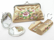 set champagne colors Jewelry silk mirror bags pouches Boxes set T356A20
